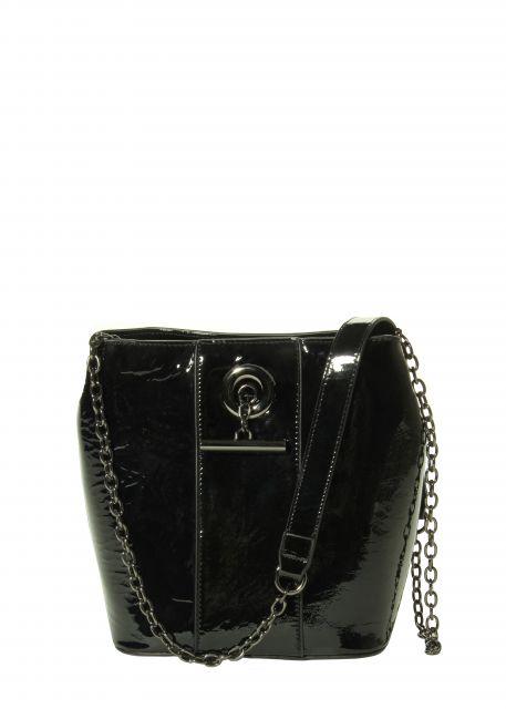 Marmi Exclusive Black Patent Bucket Bag